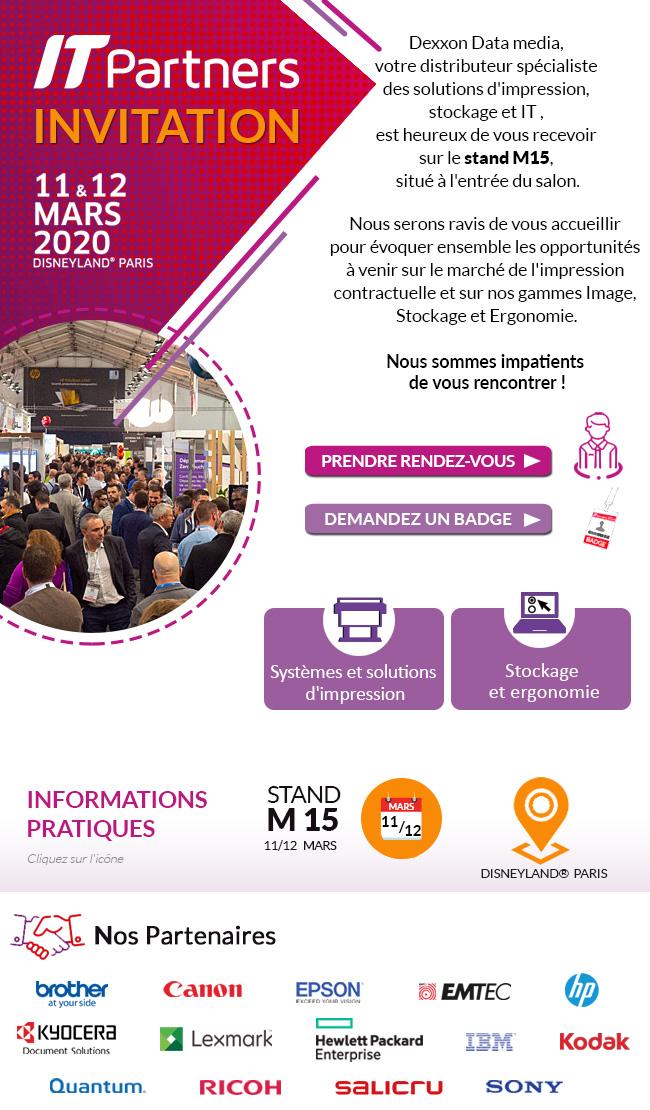 INVITATION IT Partners - le 11 & 12 mars 2020